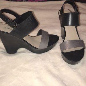 "Franco Sarto ""Georgette"" wedge leather sandals"